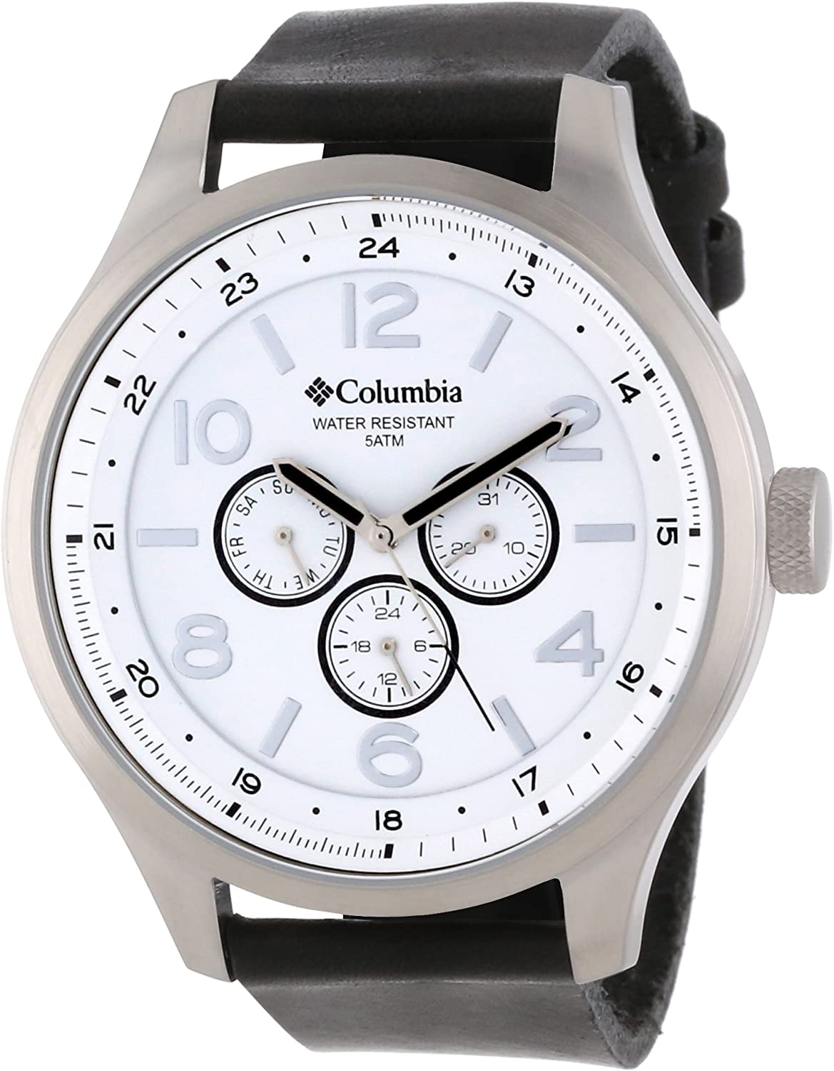 Columbia Men s Skyline Large Round Watch with Synthetic Band
