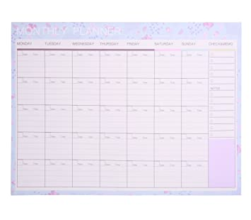 amazon com phyxin monthly weekly planning pad daily to do list