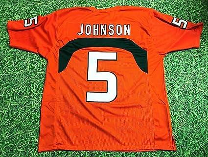 Amazon.com: ANDRE JOHNSON ORANGE MIAMI CUSTOM STITCHED NEW ...