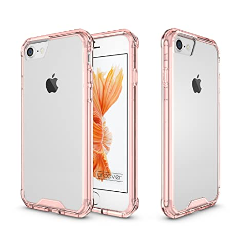 Urcover® Funda Compatible con Apple iPhone 7 Plus Armor TPU Móvil Smartphone Carcasa Protectora Antichoque Rosa Oro