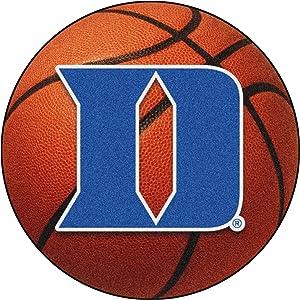 """FANMATS 19572 Duke 'D' Basketball Mat, Team Color, 27"""" Diameter"""