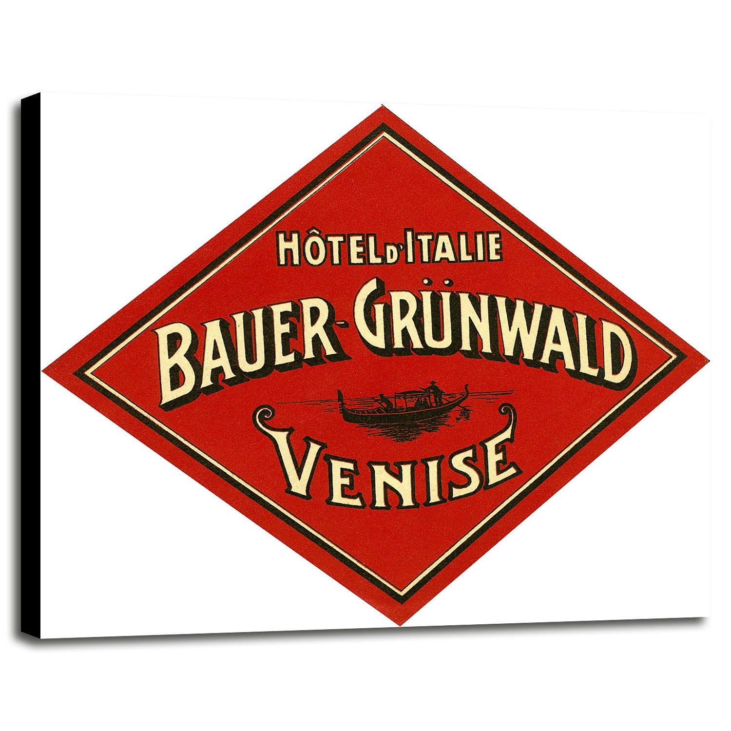 Hotel d'Italie, Bauer- Grunwald, Venise -PRIPUB129042 Print 20.5''x23.5'' by Print Collection in a Canvas Stretched in Maple Frame