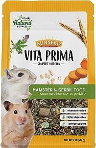 Sunseed Vita Prima Complete Nutrition Hamster & Gerbil Food, 2 LBS