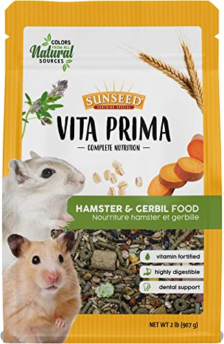 Sunseed Vita Prima Complete Nutrition Hamster Gerbil Food, 2 LBS