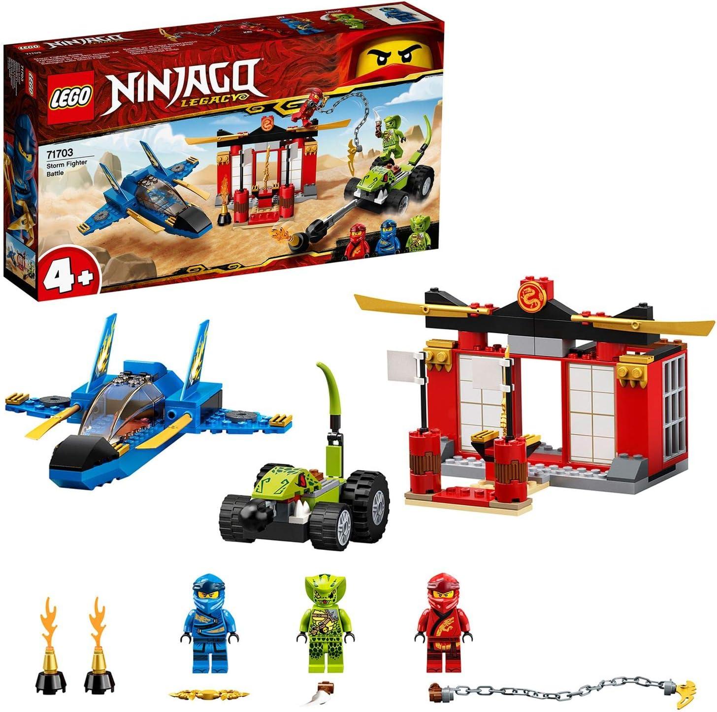 Ninjago Legacy4+Batalla en el Caza SupersónicoSetJet,MastersofSpinjitzuJuguete para Niños, multicolor (Lego ES 71703)