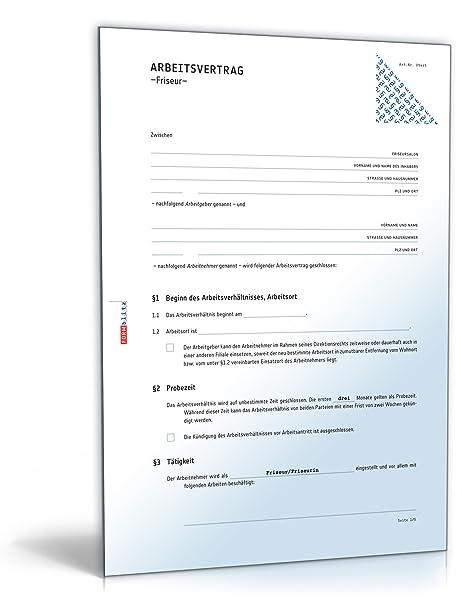 Arbeitsvertrag Friseur Pdf Download Download Amazonde Software