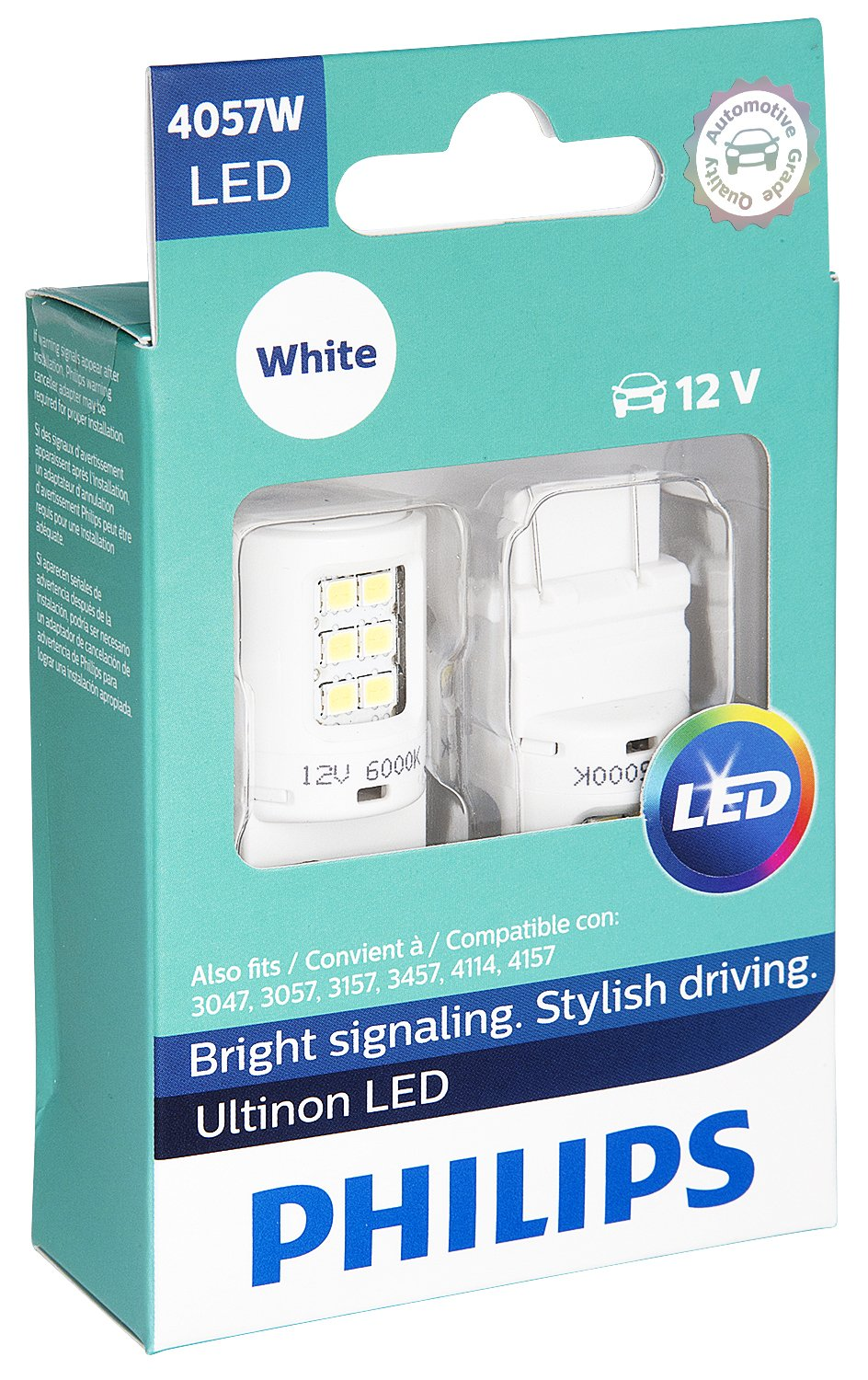 2 Pack Philips 4057 Ultinon LED Bulb White