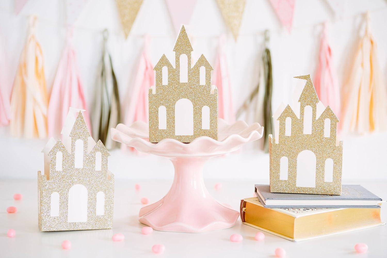 Gold Sparkle Castle Party Centerpiece