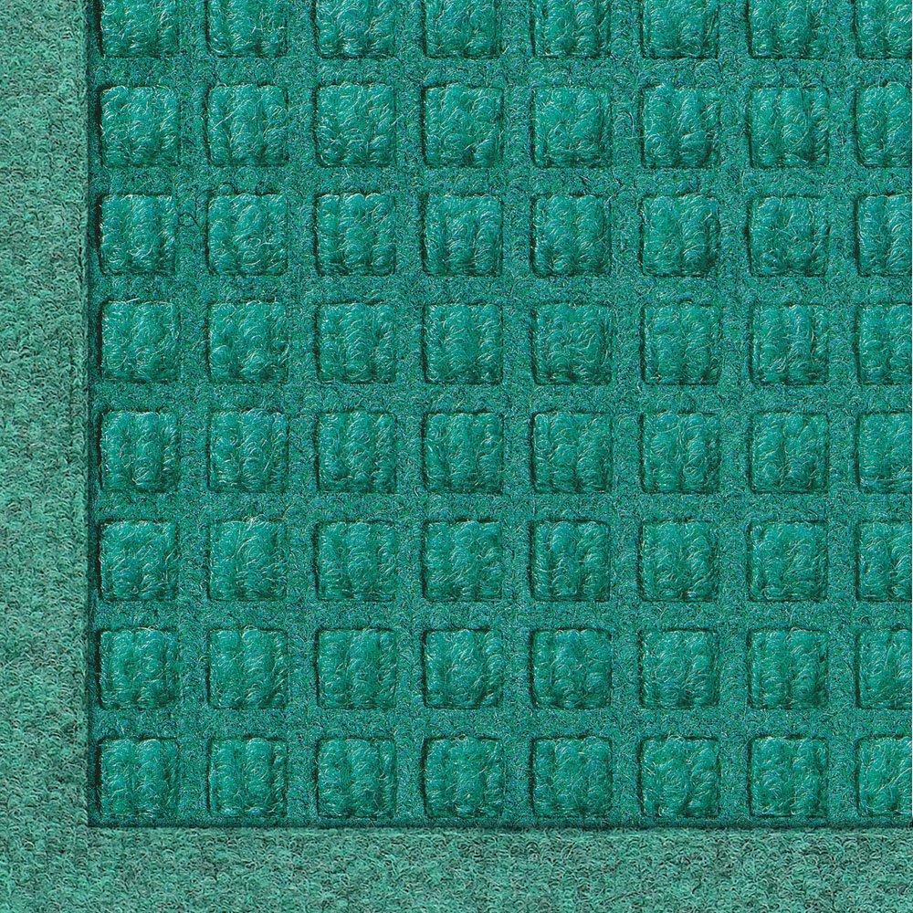 Andersen 280 WaterHog Fashion Polypropylene Fiber Entrance Indoor/Outdoor Floor Mat, SBR Rubber Backing, 12' Length x 4' Width, 3/8'' Thick, Aquamarine