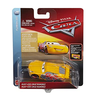 Disney Pixar Cars Die-cast Final Race Cruz With Accessory Card Vehicle: Toys & Games