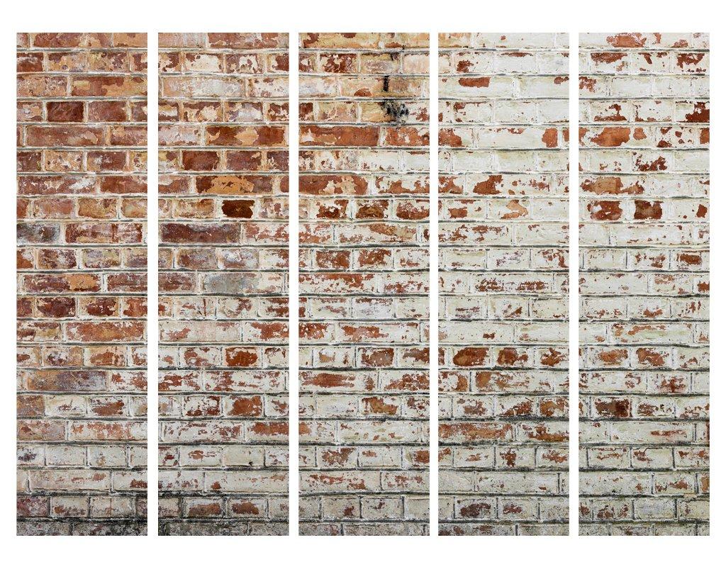 Murando Raumteiler Stein-Optik Foto Paravent 225x172 cm cm cm einseitig auf Vlies-Leinwand Bedruckt Trennwand Spanische Wand Sichtschutz Raumtrenner grau f-B-0020-z-c 1e1937
