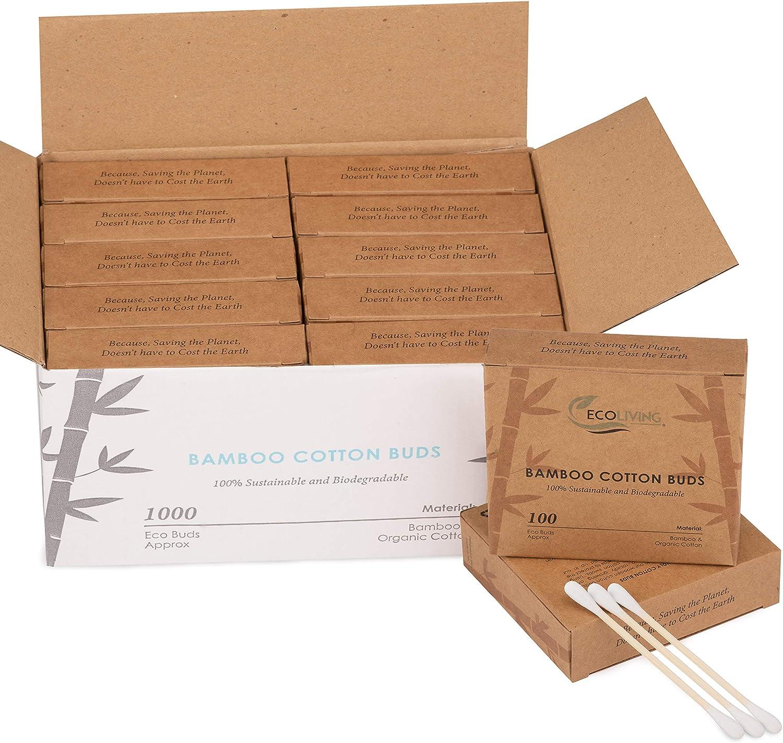 10 cajas de 100 capullos de algodón ecológico, biodegradables ...