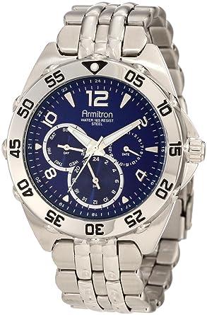 amazon com armitron men s 204664blsv stainless steel sport watch armitron men s 204664blsv stainless steel sport watch