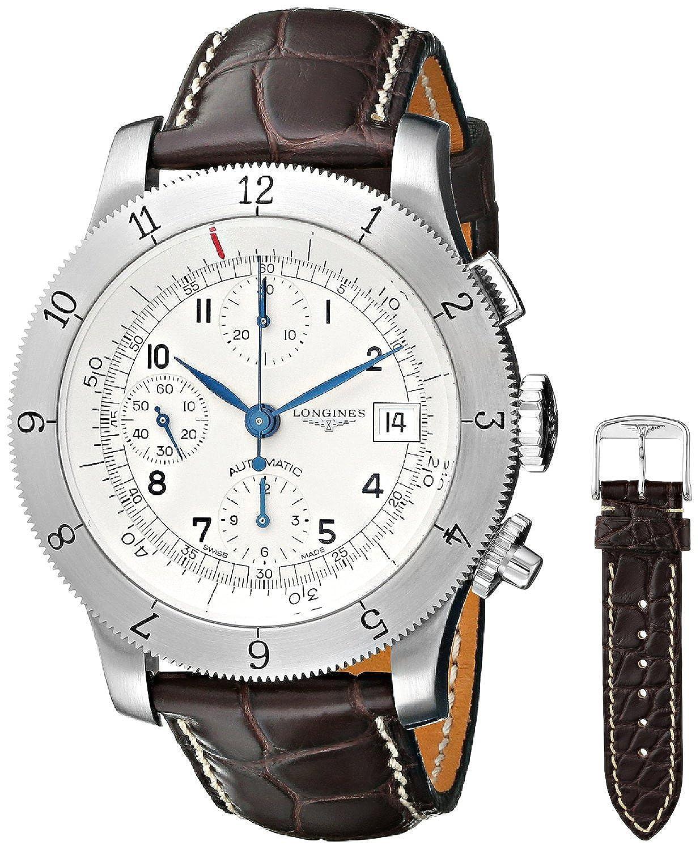 [ロンジン]Longines 腕時計 Weems Analog Display Swiss Automatic Brown Watch L27414732 メンズ [並行輸入品] B0182GT0C2