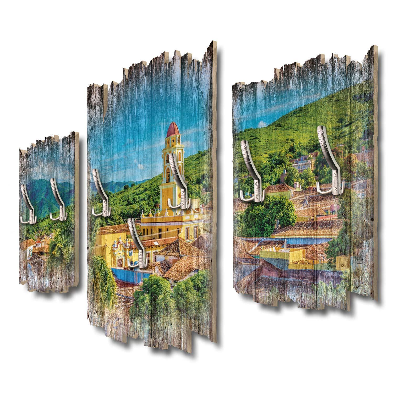 Kreative Feder Cuba Panorama Designer Wandgarderobe Flurgarderobe Wandpaneele 95 x 60 cm aus MDF DTGH050