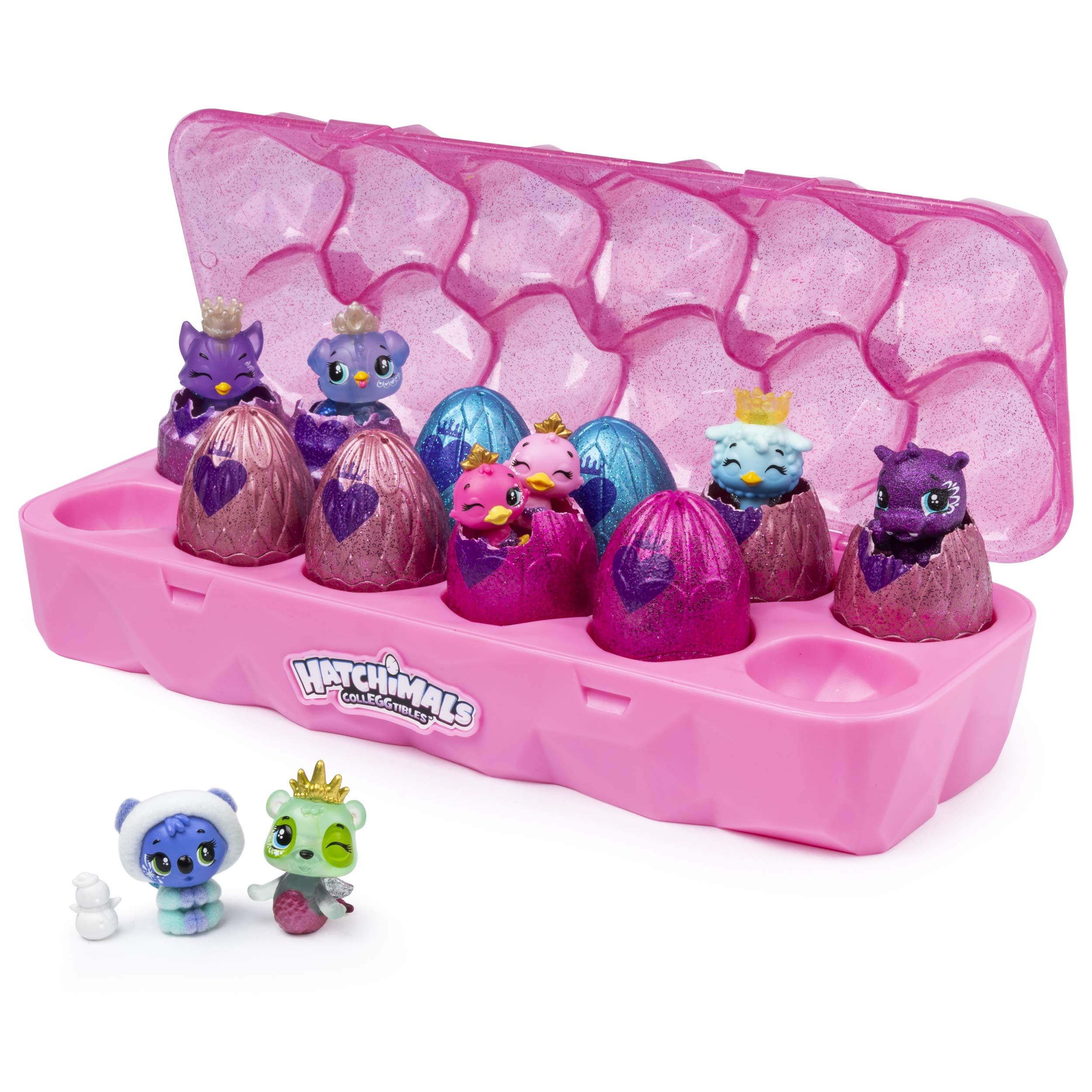 Hatchimals Colleggtibles, Jewelry Box Royal Dozen 12 Pack Egg Carton with 2 Exclusive by Hatchimals