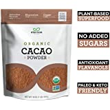 Eternae By Nature Organic Cacao Powder, 16 Oz - Keto, Vegan, Non-Gmo, Sugar-Free, Gluten-Free - Contains Omega-3'S, Fiber & Protein - Baking, Smoothies, Cereals, Oatmeal, Yogurt