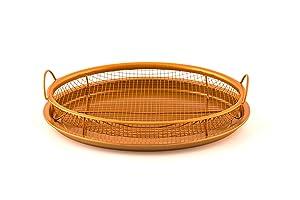 "MasterPan Copper Pan 12"" Non-Stick Crisper Tray - Air Fryer"