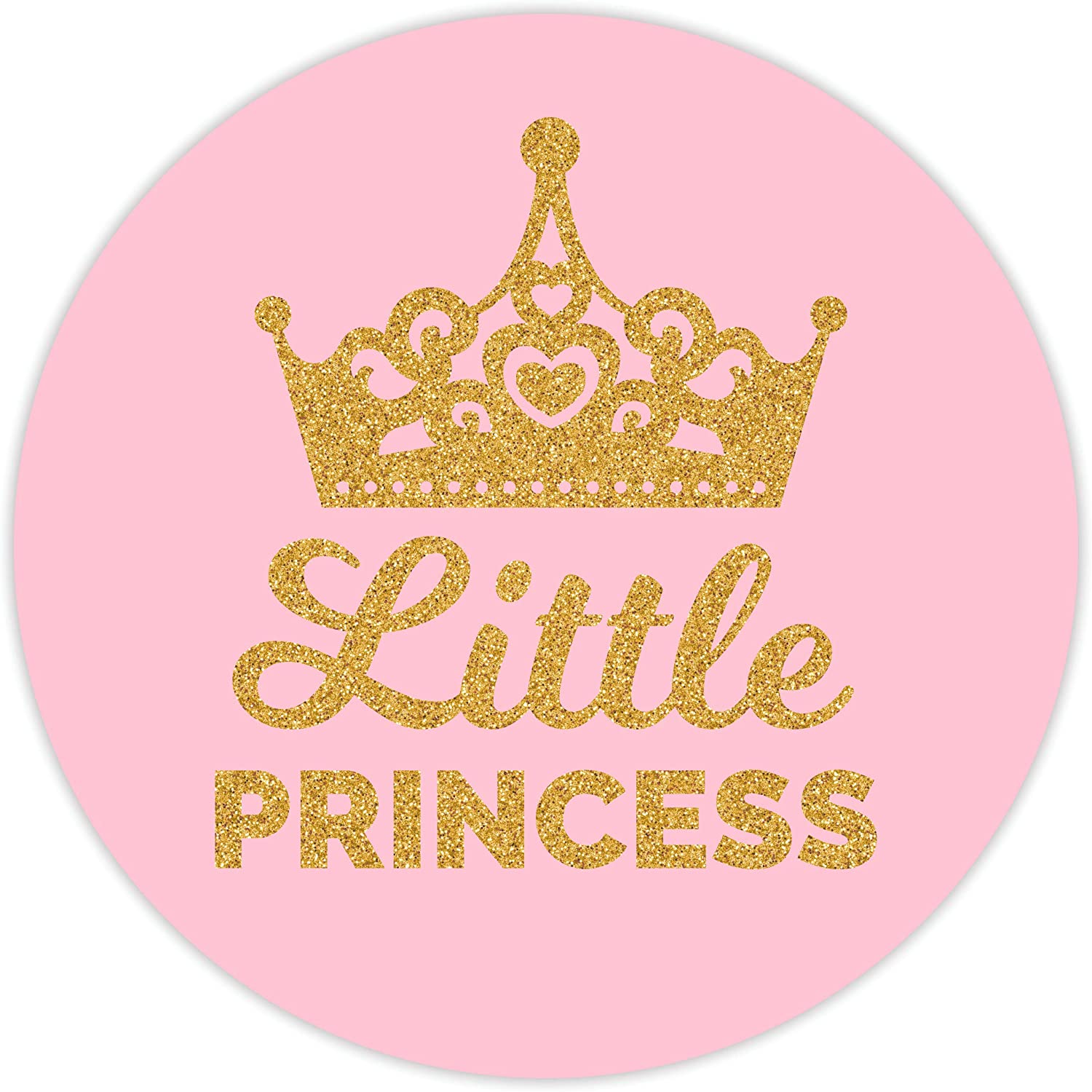 60 Stickers 2 Inch Pink Little Princess Stickers Girl Baby Shower Birthday Party Favors Labels Decorations