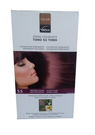 vebix color 5 5 mogano chiaro tintura capelli amazon co uk health rh amazon co uk