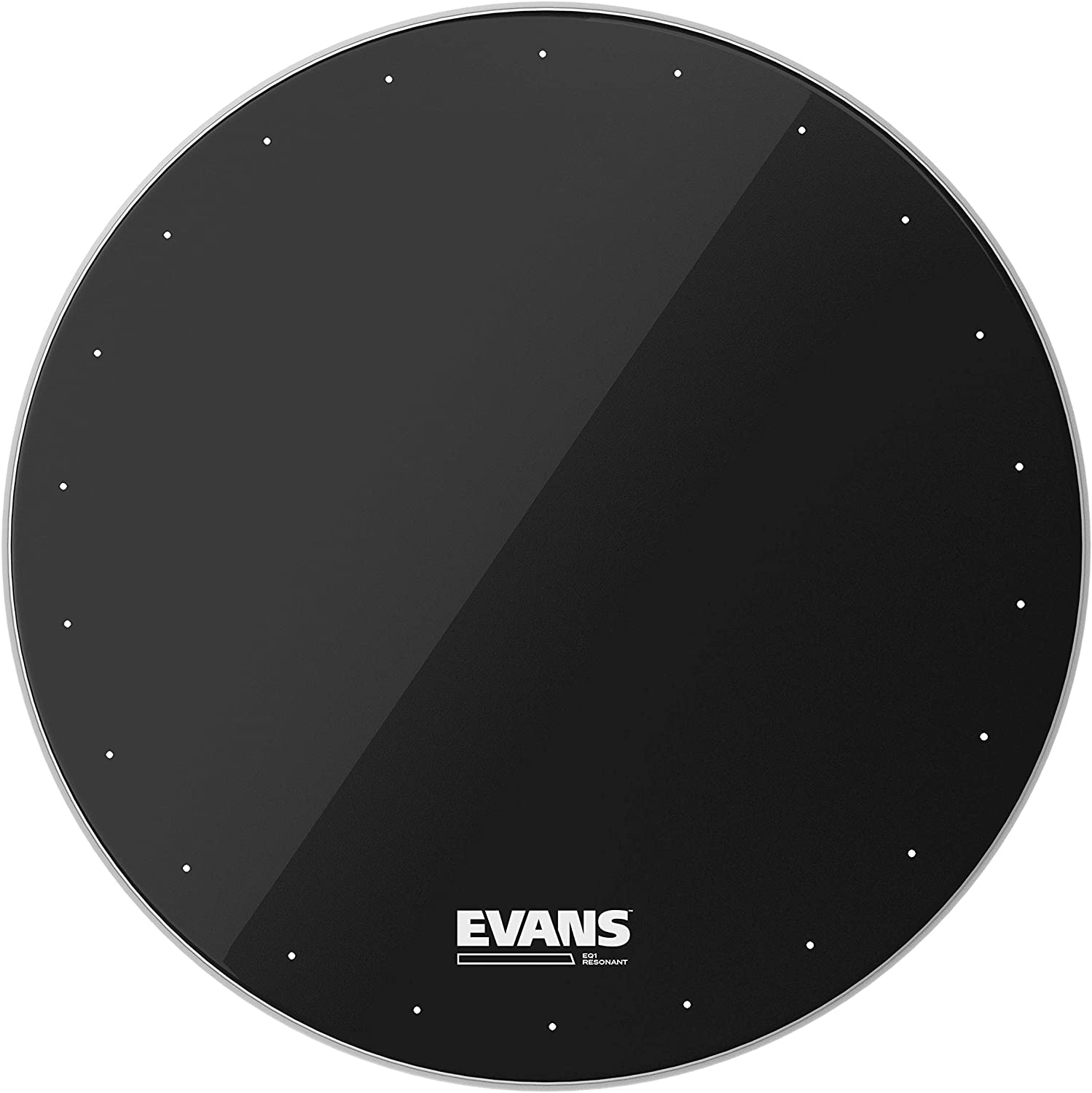 Evans EQ1 Resonant Black Bass Drum Head, 22 Inch 816hTLuLOUL