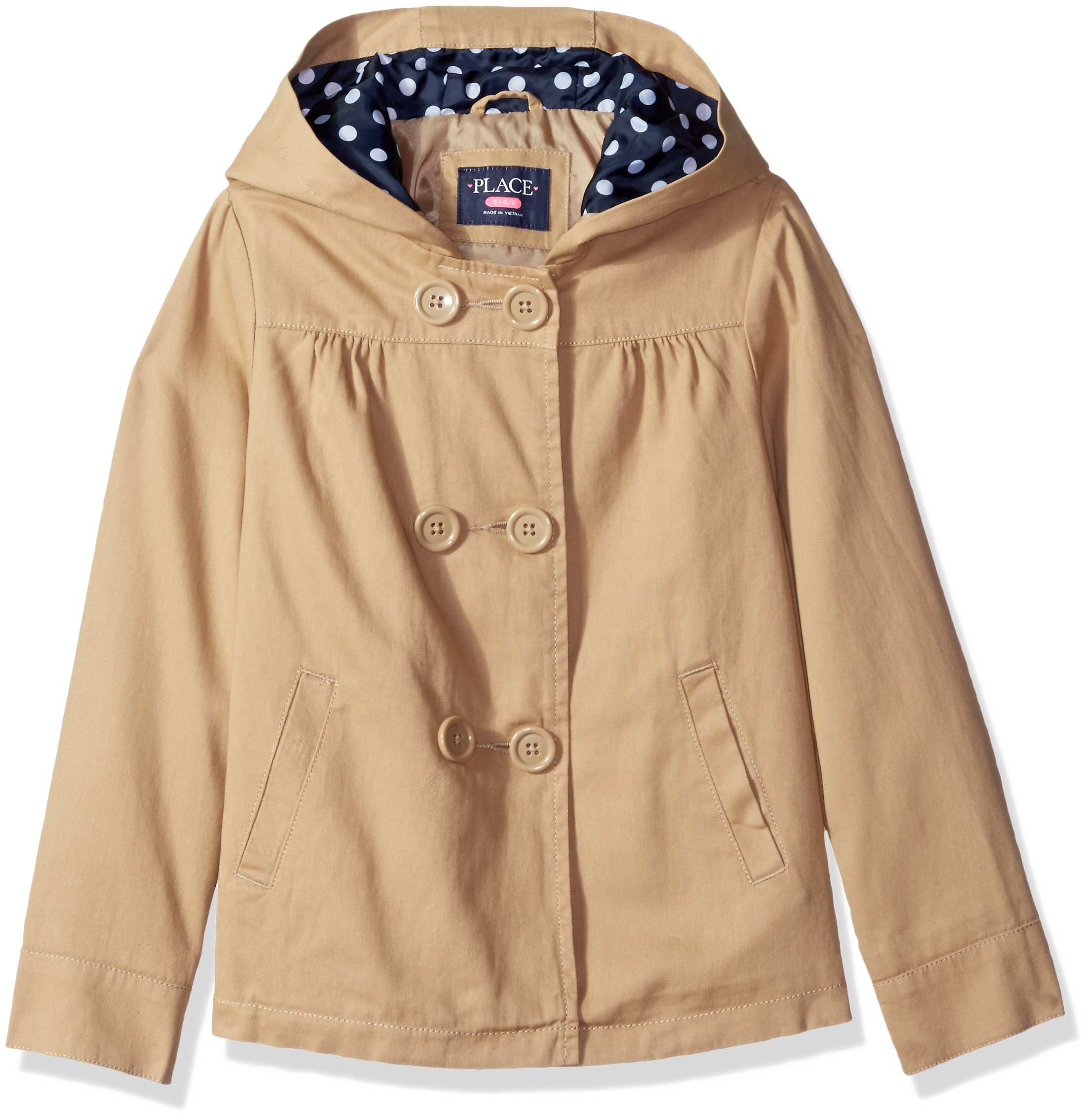 The Children's Place Big Girls' Uniform Trench Coat, Sesame, Medium/7/8 by The Children's Place