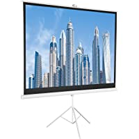 AmazonBasics 84 Inch 4:3 Portable Projector Screen - White
