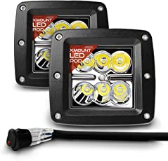 OPT7 CREE LED Pod with Wiring Harness (2 Pcs - 18w) Fog Light Work Lamp Spot Light for Off-Road ATV Utility Truck SUV