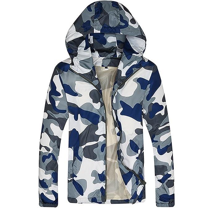 Allonly Men's Fashion Hoodie Zip-up Camouflage Premium Lightweight Windbreaker Jacket supplier