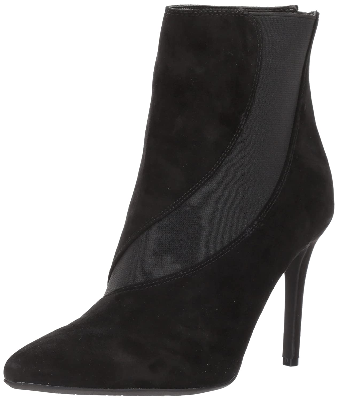 Nine West Women's Fran9x Suede Mid Calf Boot B071HQDD52 6.5 B(M) US|Black/Black Suede