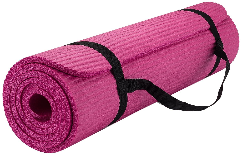 Amazon.com: Esterilla de yoga espesor, con correa de ...