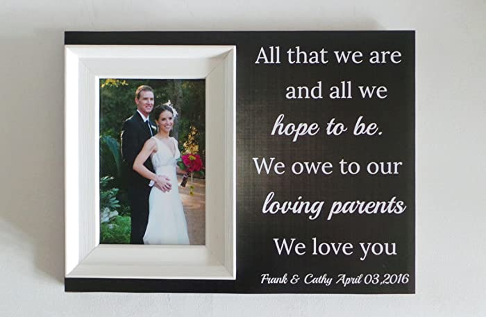 Wedding Framepersonalised Wedding Framewedding Thank You Frame
