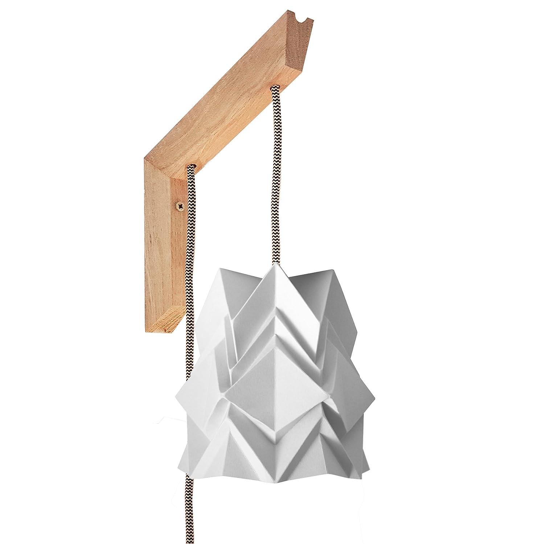 Applique murale en bois et petite suspension Origami Design en Papier