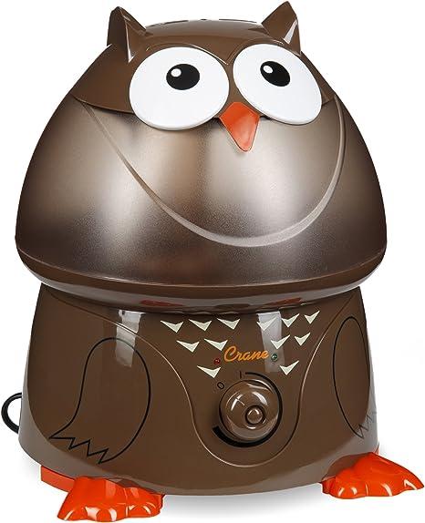 Opinión sobre Crane EE-8189 - Humidificador ultrasónico, diseño de búho, color marrón
