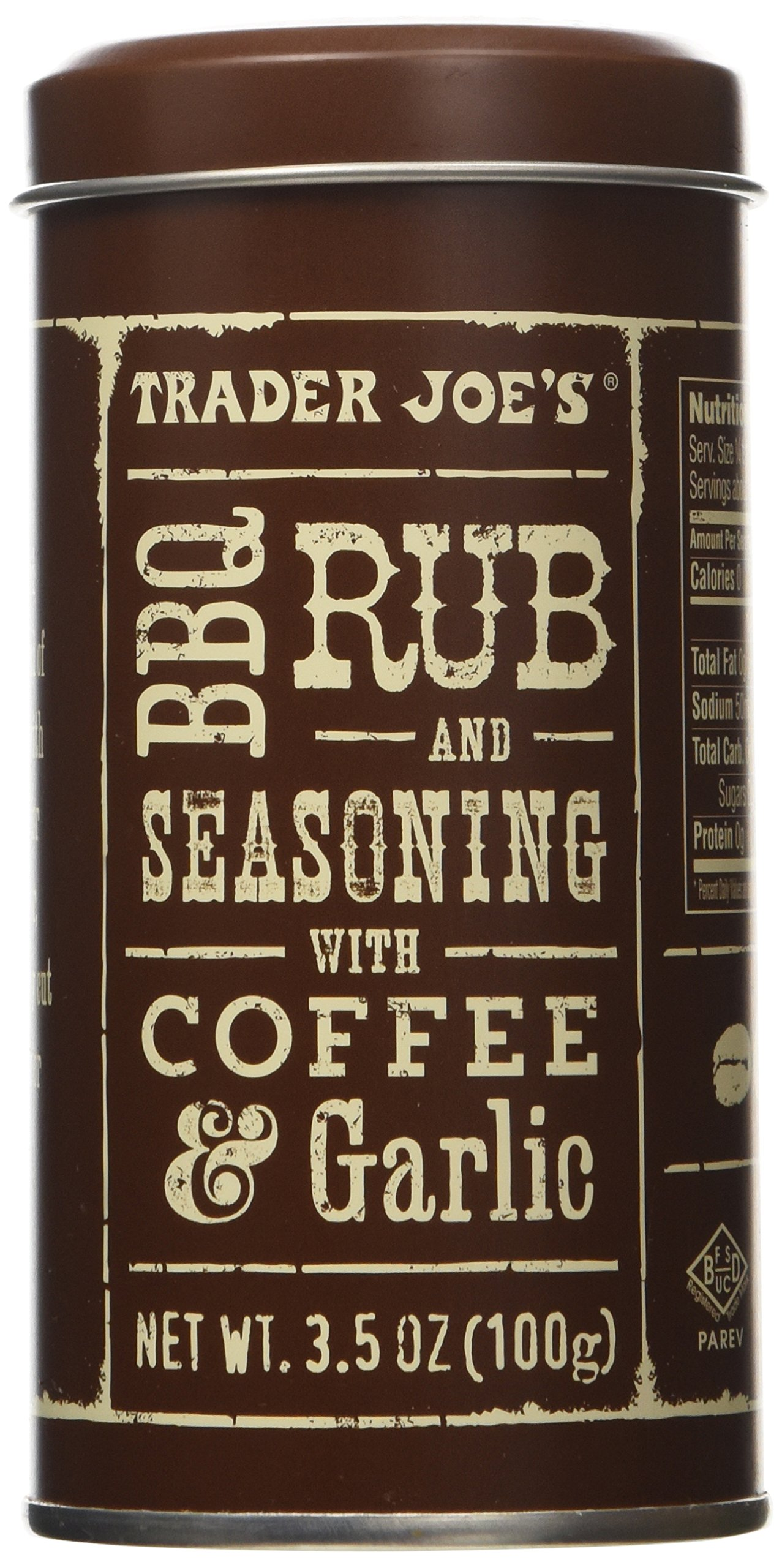 Trader Joe's BBQ Rub and Seasoning with Coffee & Garlic (Pack of 2)