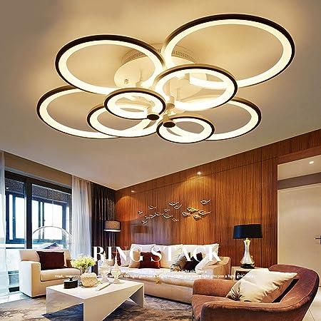 Ceiling Lights & Fans White Finished Led Circle Modern Chandelier Lights For Living Room Ceiling Lights