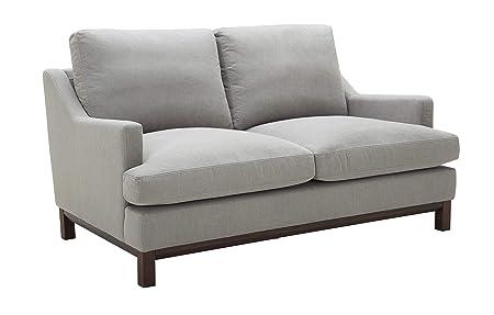 Stone Beam Genesse Loveseat Sofa Couch, 64 W, Smokey Blue