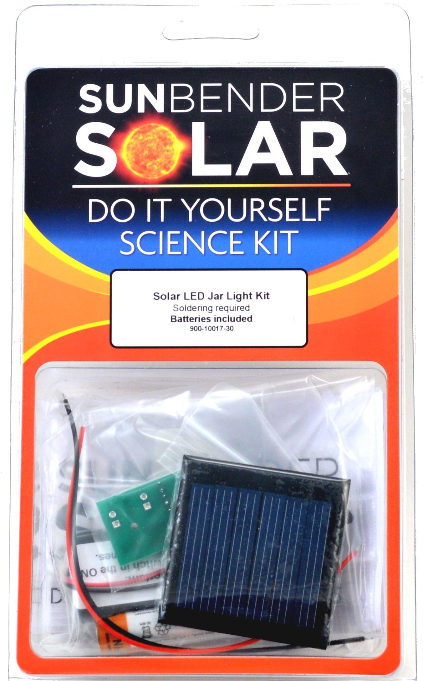 SunBender Do-it-Yourself Solar LED Jar Light Kit - White LED's - Soldering Required