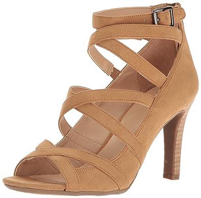 1d4c87bcfa Amazon.com   Franco Sarto Women's Quincey Heeled Sandal, Camel, 6 ...
