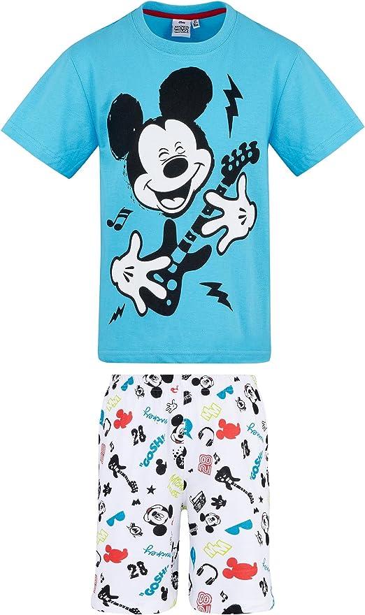 Bleu Disney Mickey Gar/çon Pyjama Court