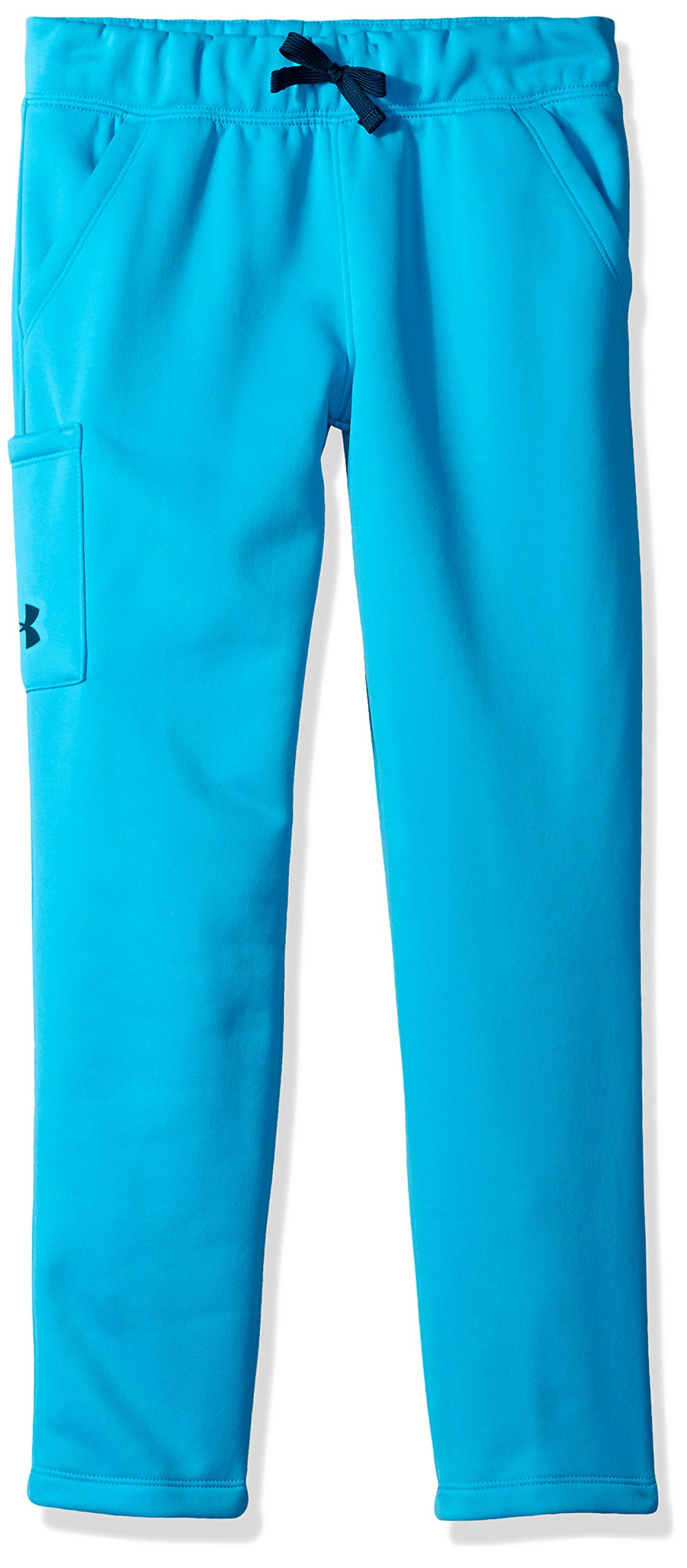 Under Armour Girls' Armour Fleece Pants,Blue Shift (929)/True Ink, Youth Large by Under Armour