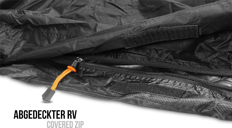 Funda de vivac para saco de dormir, 100% impermeable y cortavientos, transpirabilidad:3000 mvp, 230 cm x 90 cm, color Negro , tamaño 230 x 90 x 60 cm - RV ...