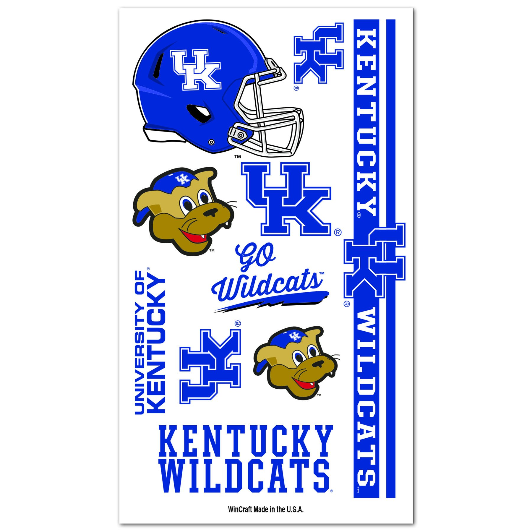 Amazon.com: KENTUCKY WILDCATS FACE AND NAIL SPORT STICK ONS ...