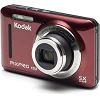 """Kodak PIXPRO Friendly Zoom FZ53-RD 16MP Digital Camera with 5X Optical Zoom and 2.7"""" LCD Screen (Red)"""