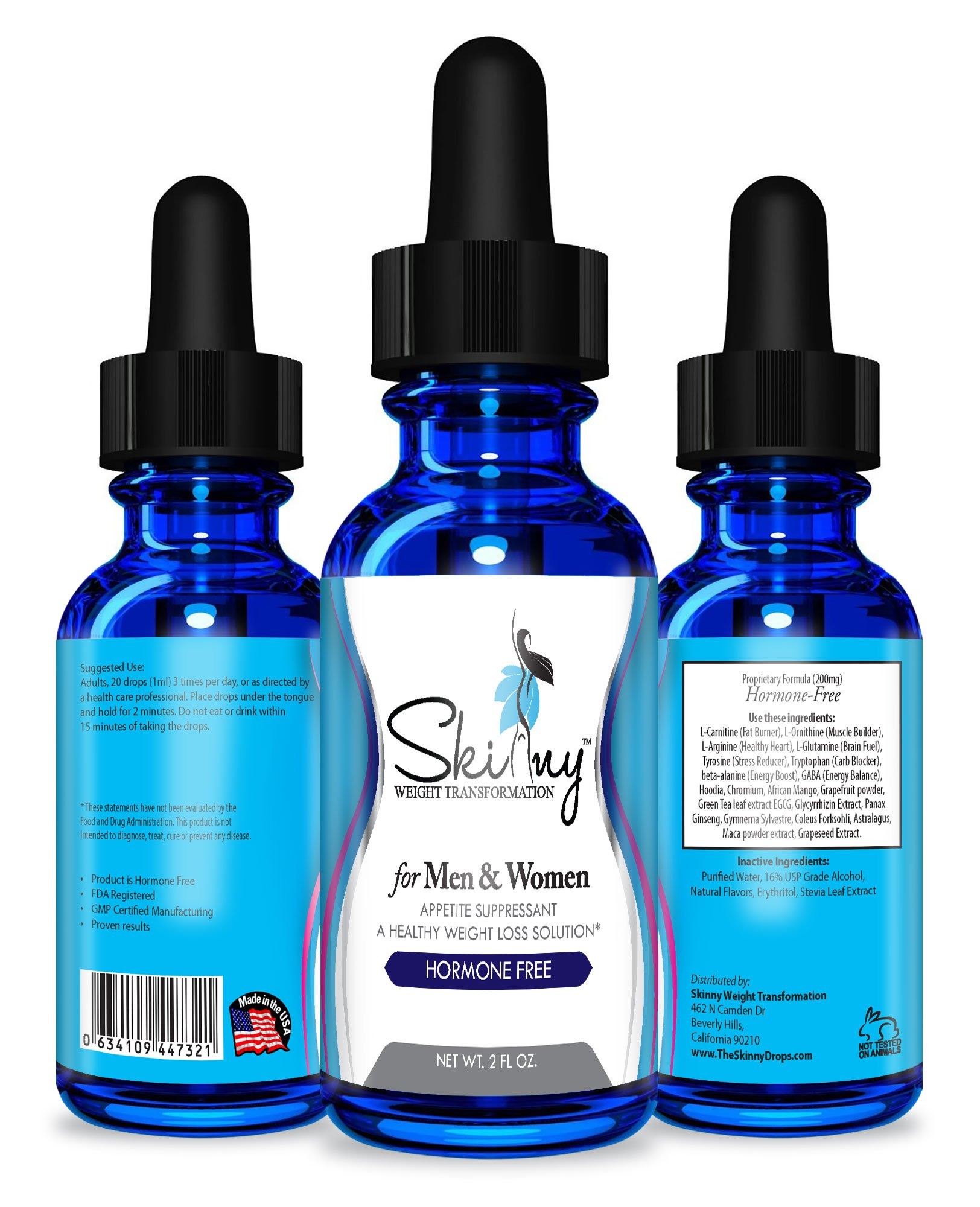 Weight Loss Diet Fat Burning Drops By Skinny Weight Transformation - Best Natural, Effective Formula - 20 Ingredients Blend - Boosts Metabolism & Suppresses Appetite - Lose up to 1 Pound A Day by Skinny Weight Transformation