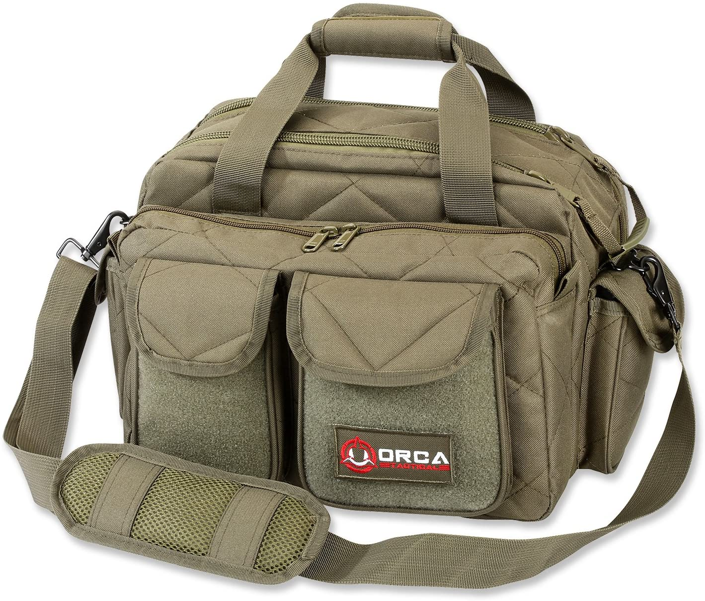 Orca Tactical Gun Range Bag for Handguns, Pistols and Ammo - Duffle Carrier Stores and Protects 3+ Firearms Safely - Transport Shooting Range Equipment - Designed for 2020