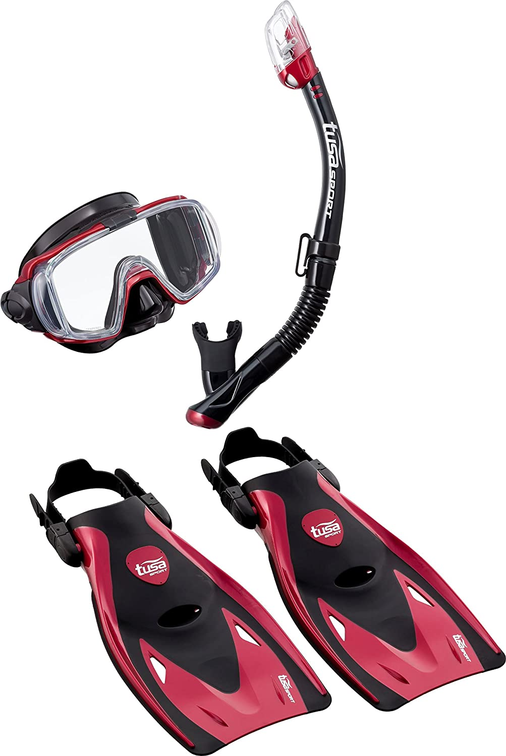 TUSA Sport – Visio Tri-Ex Adult Travel Set (Rosso, M (36 – 42)) M (36 - 42)) UP3521QB MDRM