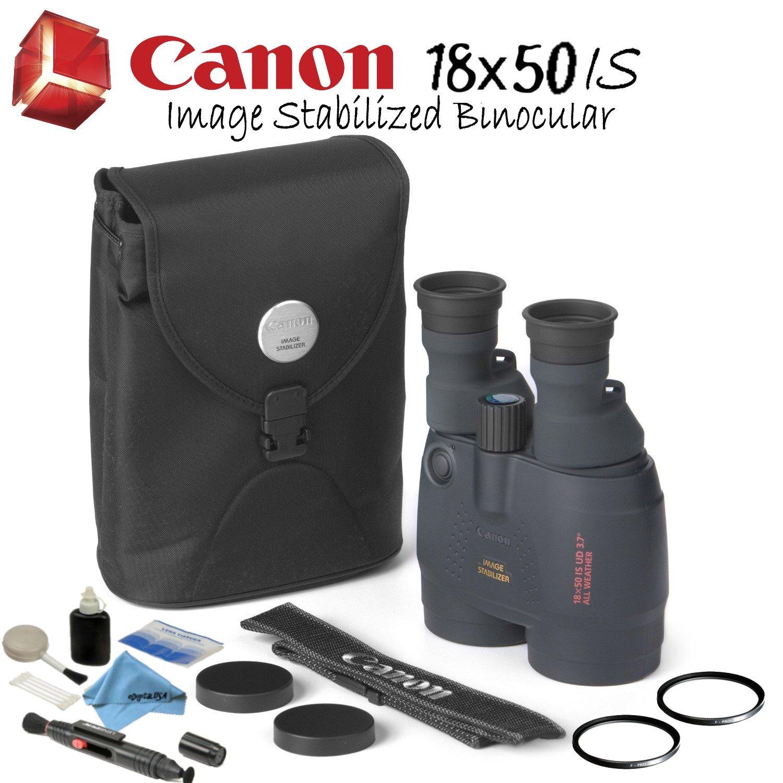Canon双眼バンドル B07DB41TB2  Starters Bundle 18x50 IS Image Stabilized Binocular