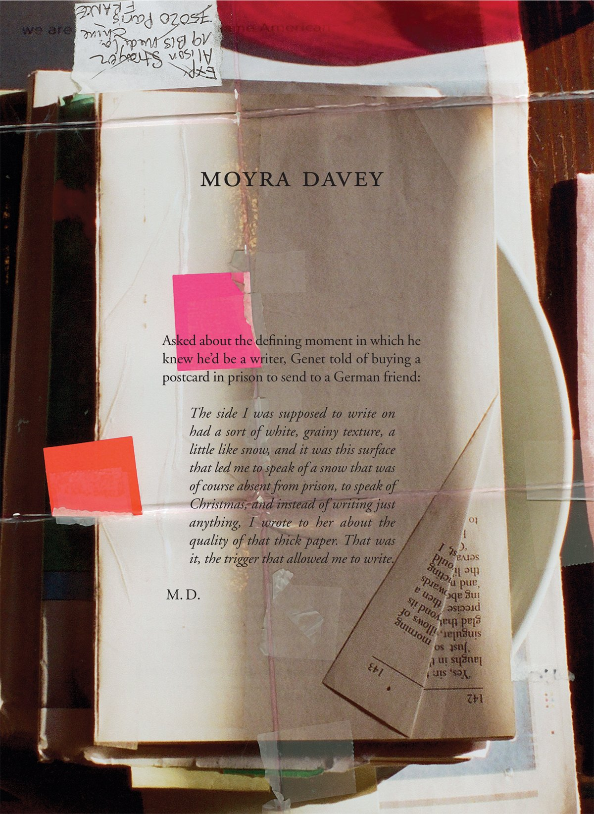 Moyra Davey: Burn the Diaries