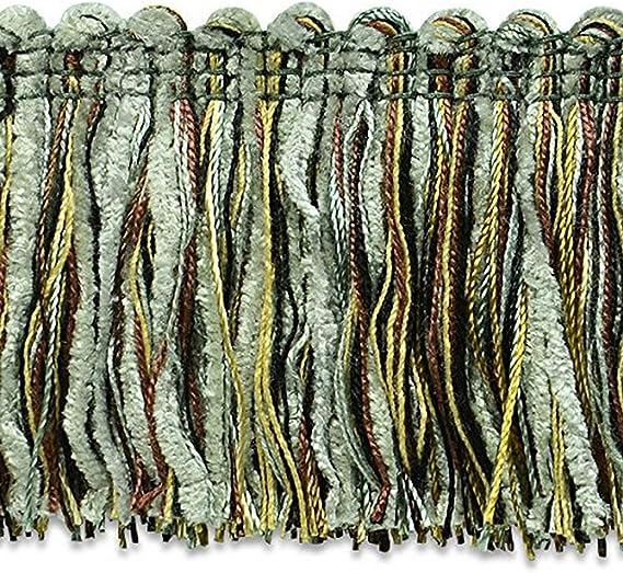 20-Yard Black//Gold Expo International Chenille Fiber Brush Fringe Trim Embellishment